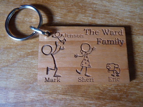 Stickmen Family Keyrings