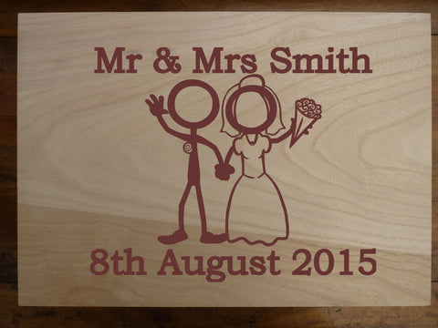 Large Personalised Wedding Storage Box