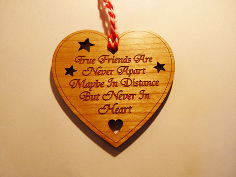 """True Friends Are Never Apart"" Gift decoration"