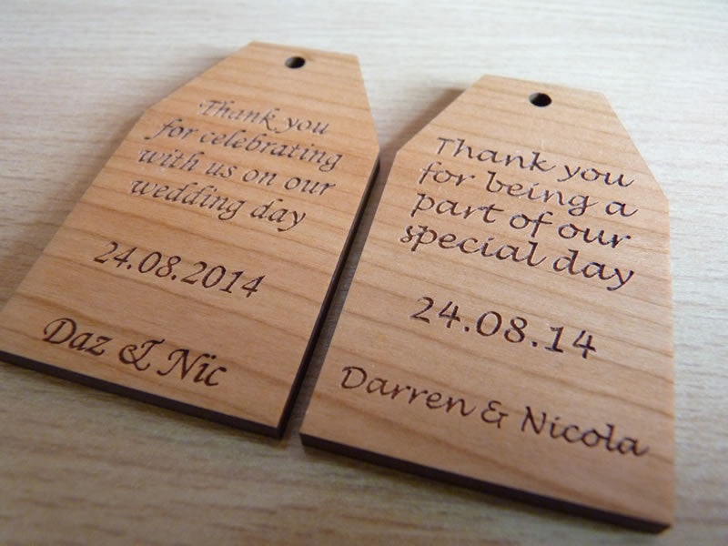 Wooden Wedding Favour Gift Tags Personalised Gifts