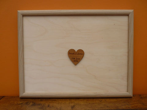 Personalised Wooden Framed Wedding Guest Board