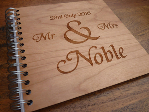 Personalised Wooden Wedding Guestbook