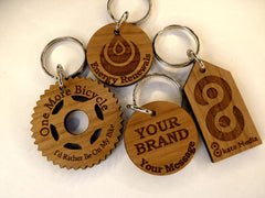 Custom keyrings with your branding, logo or message