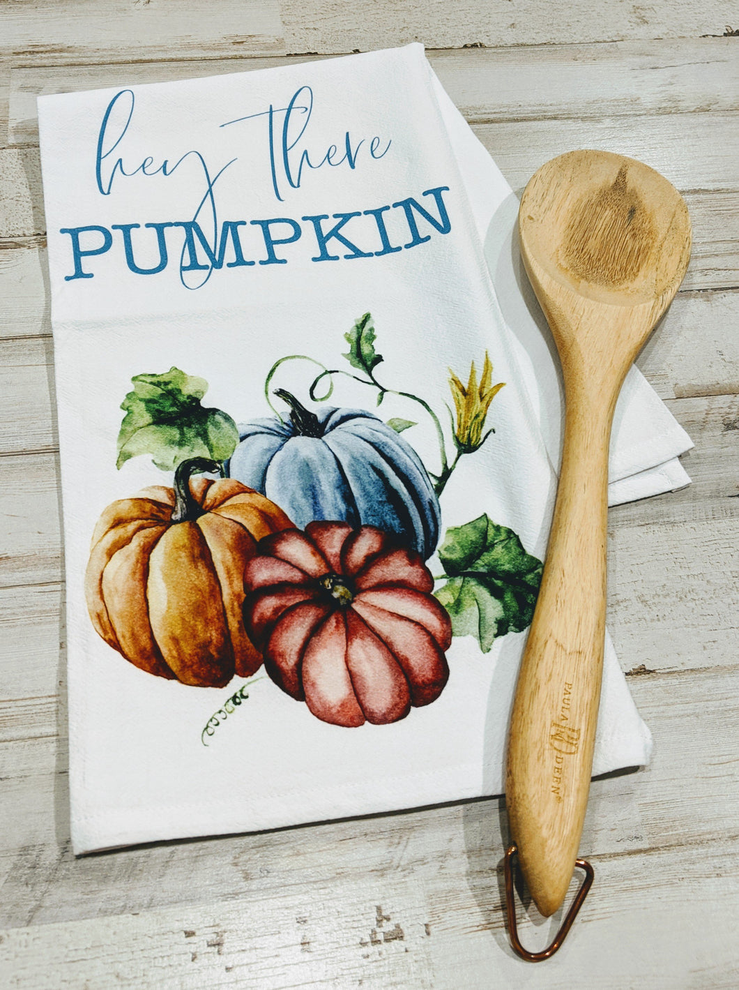 Hey there Pumpkin, 100% Cotton, Flour Sack Dish Towel