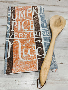 Pumpin Spice & Everything Nice, 100% Cotton, Flour Sack Dish Towel