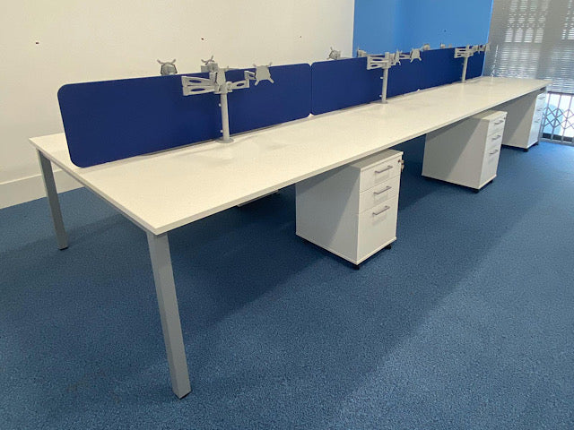 Used White Bench Desk Bundle Deal
