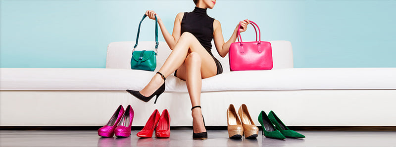 5 ways to combine purses and shoes
