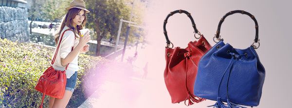 Summer time: red purse or blue purse?