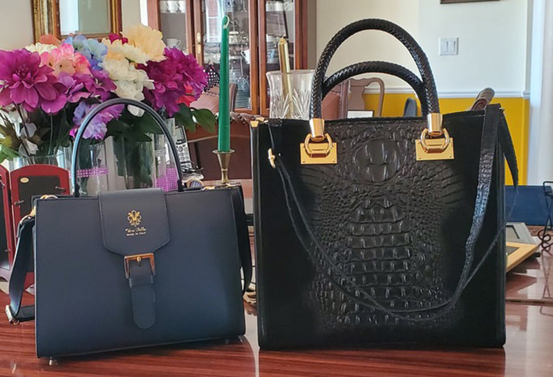 The ideal gift for Mother's Day, genuine leather handbags