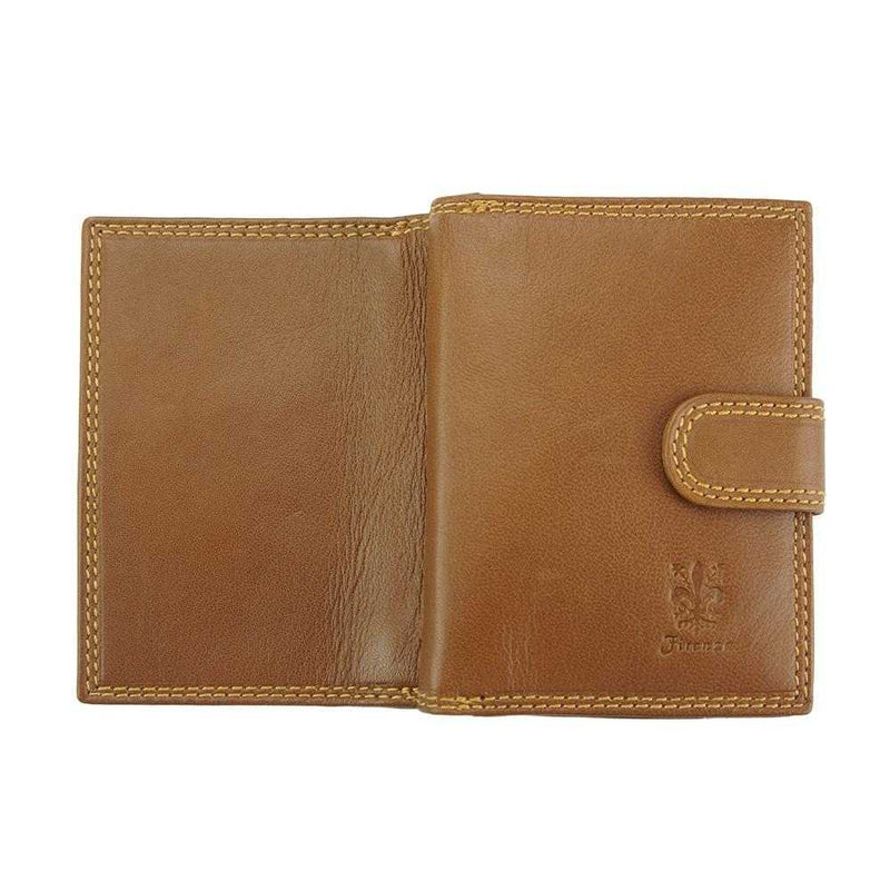 Flora leather wallet