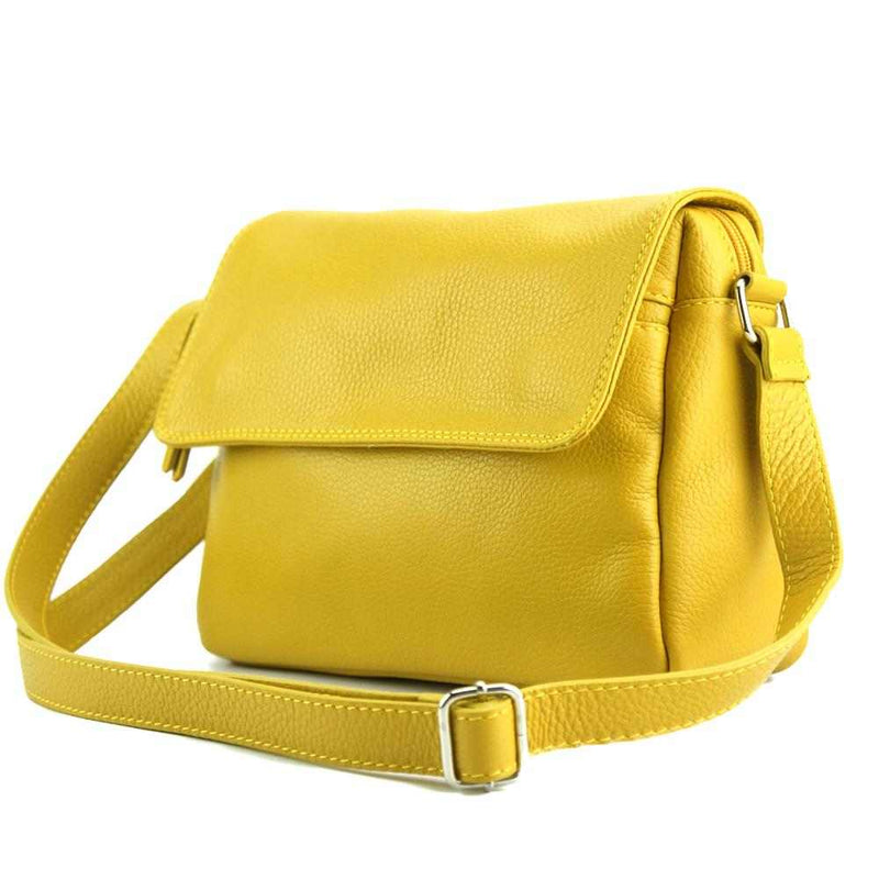 Ester leather shoulder bag