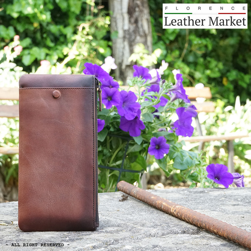 Wallet Adele in vintage leather