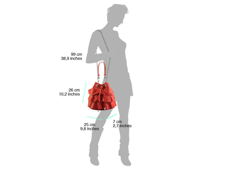 Ileana leather bucket bag