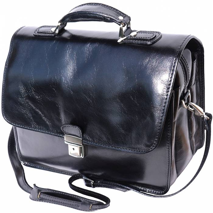 Leather briefcase with Laptop compartment inside