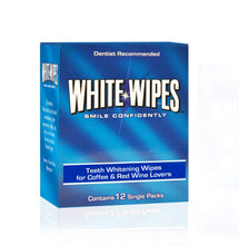 Load image into Gallery viewer, White Wipes - Teeth Whitening Wipes for Coffee & Red Wine Lovers | 3 boxes of 12 wipes per order