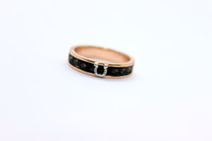 custom horsehair ring, gold horse hair ring with horseshoe