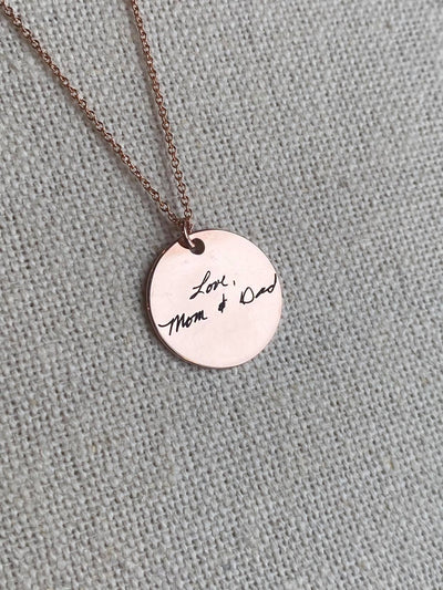 Handwritten Coin Necklace