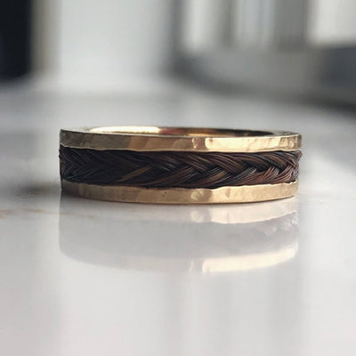 horsehair ring, ring mane hair, horse hair jewelry