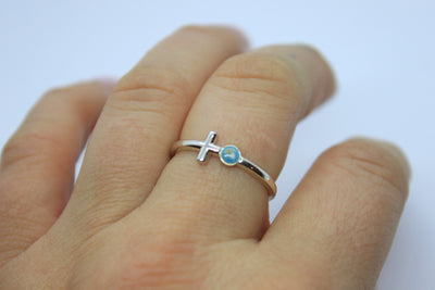 "Cross ""Pearl"" Ring"