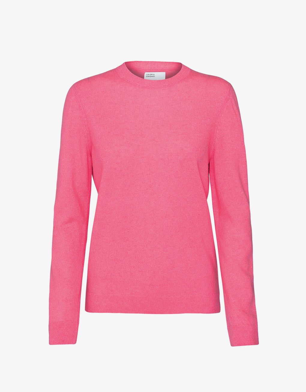 Colorful Standard Women Light Merino Wool Crew Women Merino Crewneck Bubblegum Pink