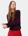 Colorful Standard Women Light Merino Wool Crew Women Merino Crewneck Oxblood Red