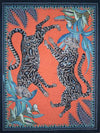 Cheetah Kings Coral Ardmore Tea Towel