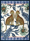 Lovebird Leopard Tanzanite Ardmore Tea Towel