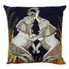 Dancing Elephant Moonlight-Cotton Ardmore Cushion Cover