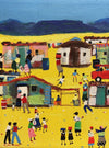 South African Original Art by Katharine Ambrose - Hot Afternoon - Township Scene - Fine Art Portfolio