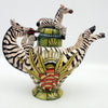 Zebra Tea Pot | Ardmore Ceramics