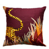 Cheetah Kings Forest Plum Cotton Ardmore Cushion Cover