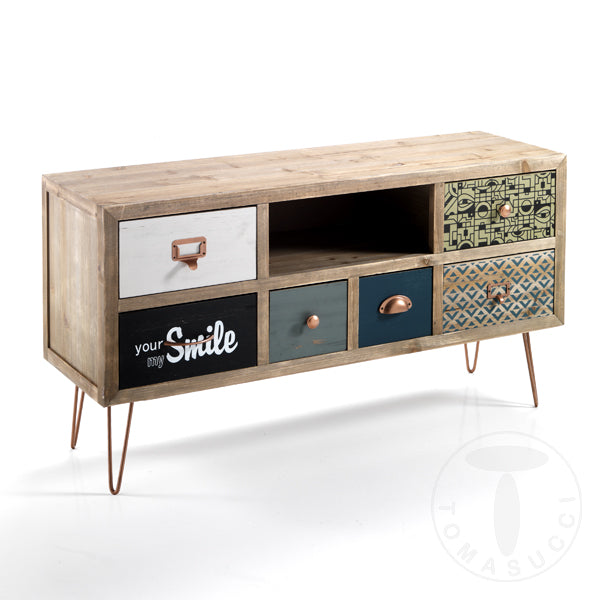 TV Stand / 6 Drawer Dresser - Kijo
