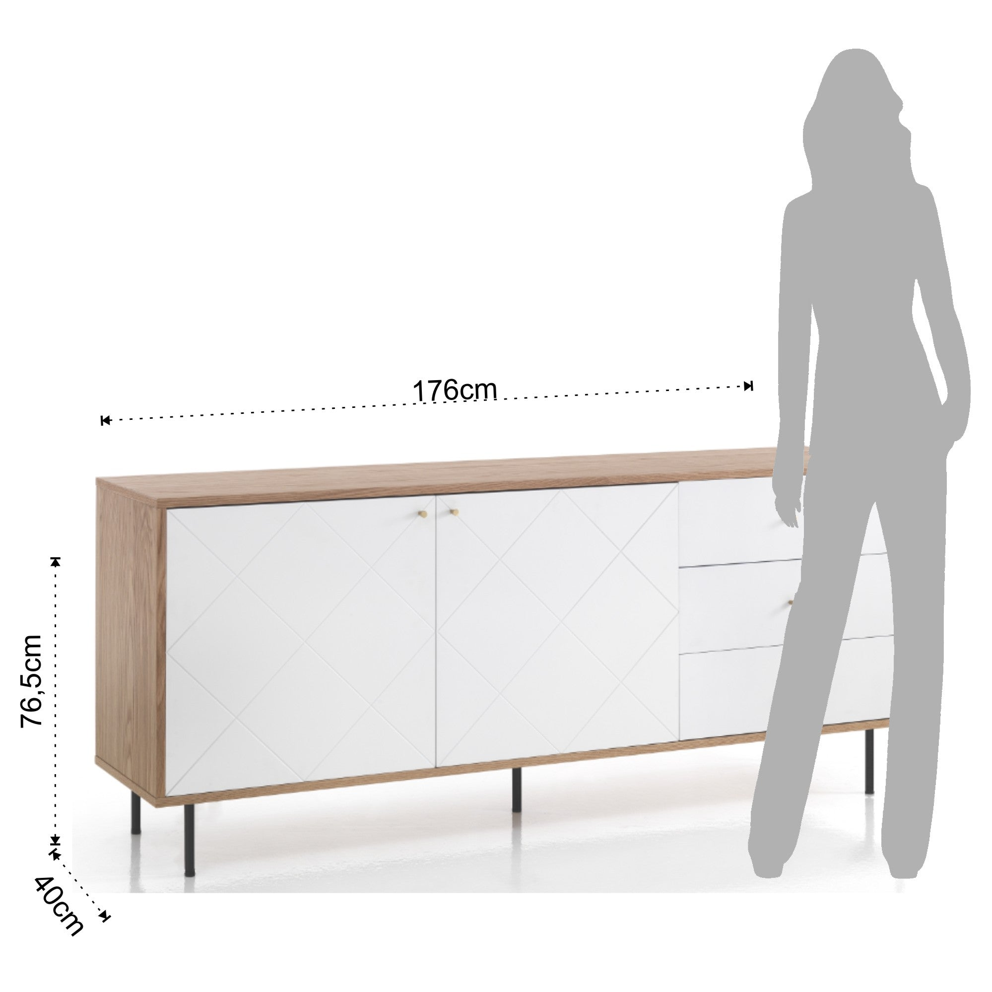 Sideboard TV Stand - Diamond White