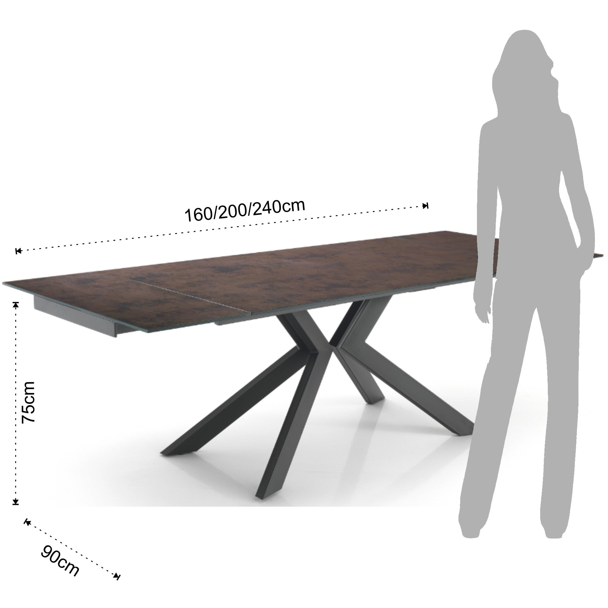 Extendable Table - Tips Evolution - Copper