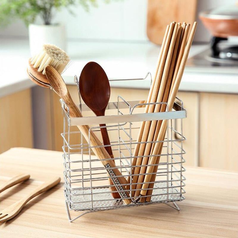 Stainless Steel Hanging Chopstick Cage