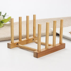 Kitchen Bamboo Plate Rack