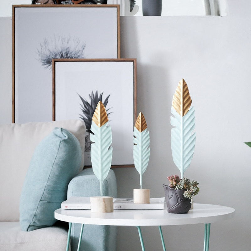 Feather Wooden Decorations