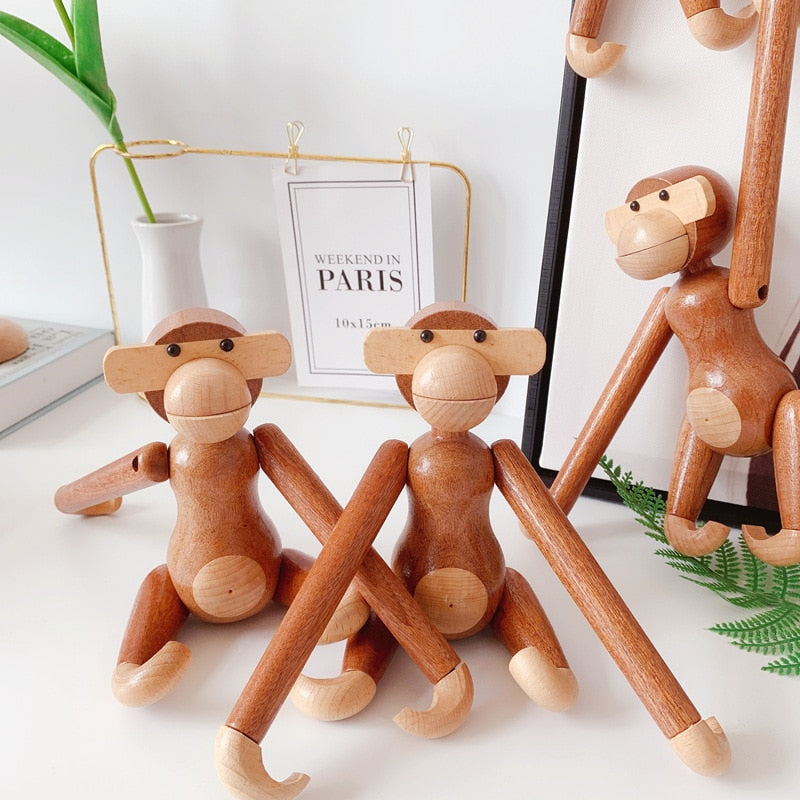 Handmade Wooden Monkey