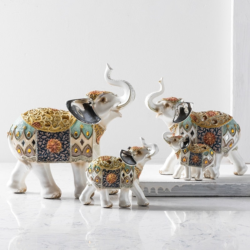 artificial resin elephant crafts