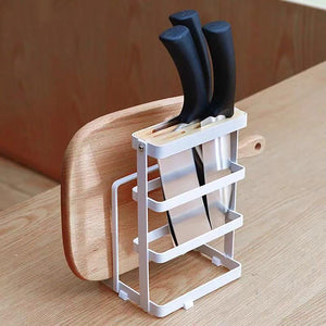 Metal Chopping Board Knife Holder