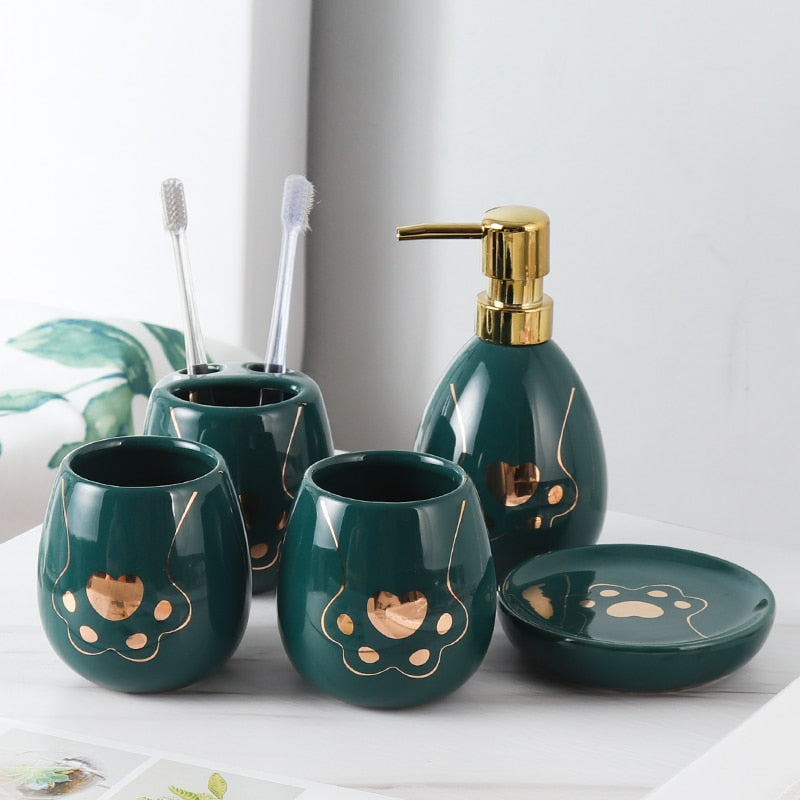 ceramic six-piece bathroom products