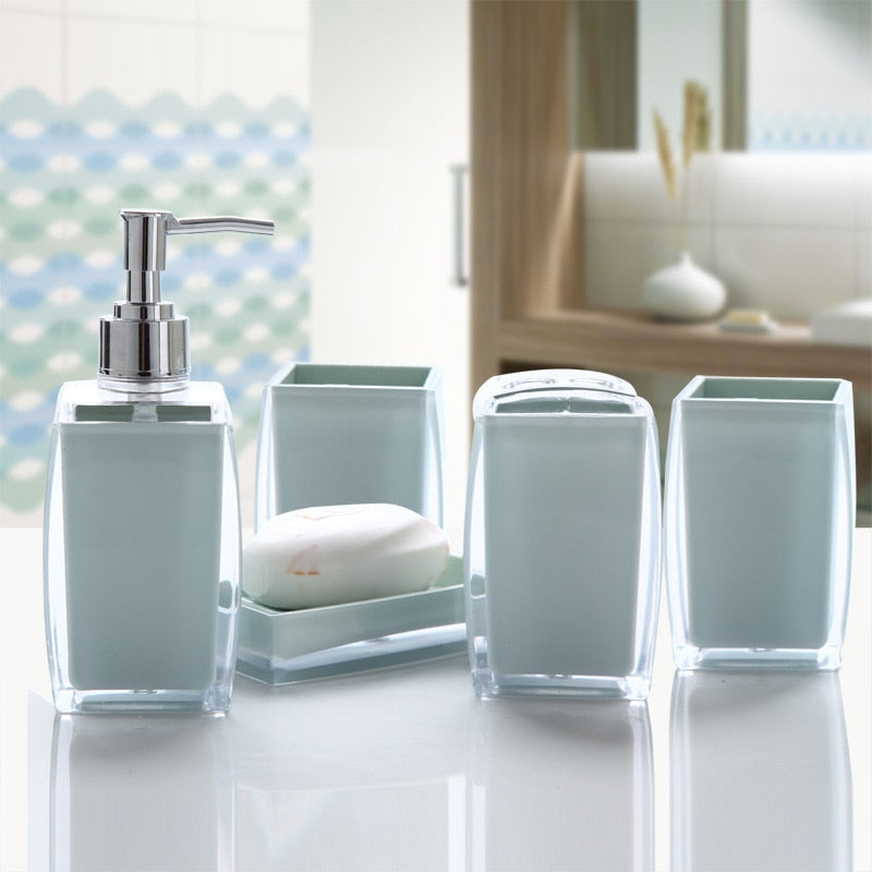 acrylic bathroom products set
