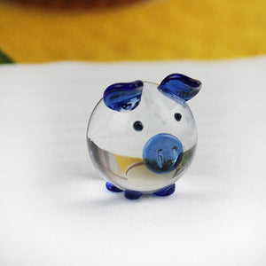 Cute Pig Crystal Figurines Miniatures