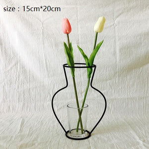 Iron Vases for Plants Shelving Flower