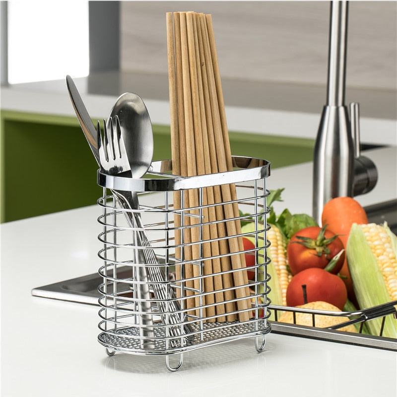 Metal Drain Chopsticks Storage Rack