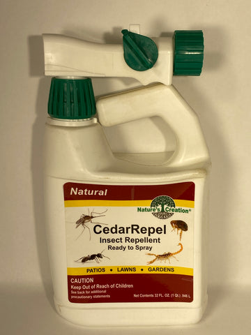 Cedar Repel Insect Repellent Ready to Spray (RTS) 32 oz.- Nature's Creation