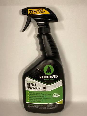 Mirimichi Green Organic Weed and Grass Control Ready to Use (RTU) 32oz.