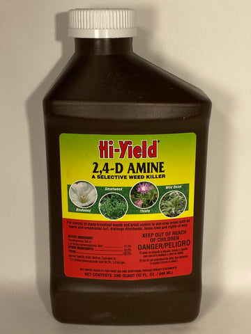 2,4-D Amine Selective Weed Killer Concentrate 32 oz. - Hi-Yield