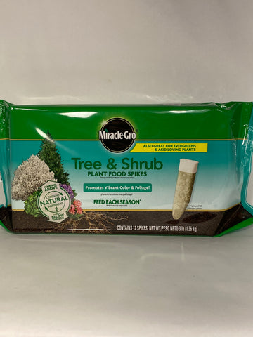 Miracle-Gro Tree & Shrub Plant Food Spikes 15-5-10-  3 lb.