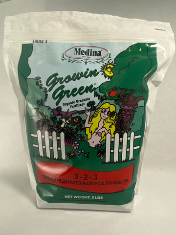 Medina Growin' Green Fertilizer 3-2-3